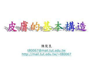 陳俊良 t80067@mail.tut.tw mail.tut.tw/~t80067