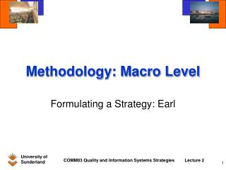 Methodology: Macro Level