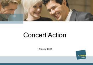 Concert'Action 12 février 2010