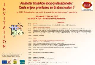 Programme 8h30  Accueil