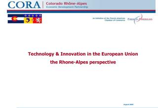 Technology & Innovation in the European Union the Rhone-Alpes perspective