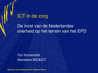 ICT in de zorg