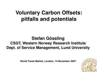 Stefan Gössling CSGT, Western  Norway  Research Institute
