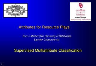 Supervised Multiattribute Classification