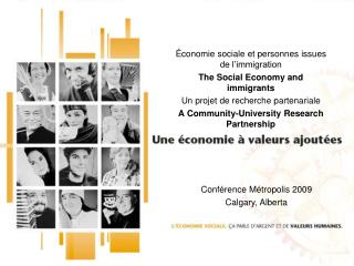 �conomie sociale et personnes issues de l�immigration The Social Economy and immigrants