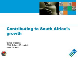 Contributing to South Africa's growth