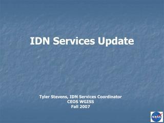 IDN Services Update