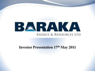 Investor Presentation 17th May 2011