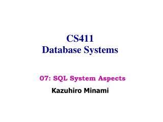 CS411 Database Systems