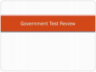 Government Test Review