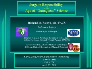 Karl Storz Lecture in Innovative Technology        SAGES 2006 Dallas, TX April  29, 2006
