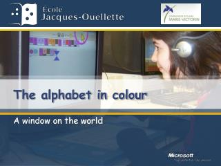 The alphabet in colour