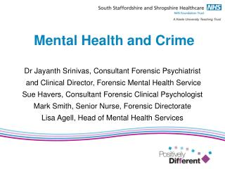 Mental Health and Crime