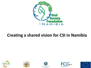 Creating a shared vision for CSI in Namibia
