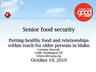 Senior food security
