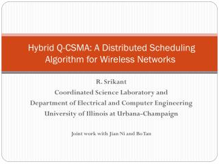Hybrid Q-CSMA: A Distributed Scheduling Algorithm for Wireless Networks