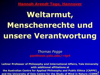 Hannah Arendt Tage, Hannover