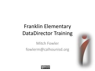 DataDirector: Using Pre-Built DIBELS Reports