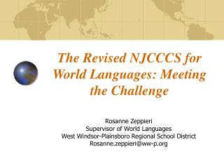The Revised NJCCCS for World Languages: Meeting the Challenge