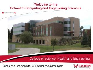 Welcome to the  School of Computing and Engineering Sciences