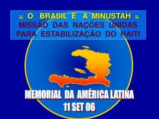 MEMORIAL  DA  AMÉRICA LATINA 11 SET 06