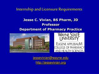 Internship and Licensure Requirements