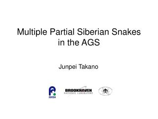 Multiple Partial Siberian Snakes in the AGS