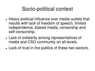 Socio-political context