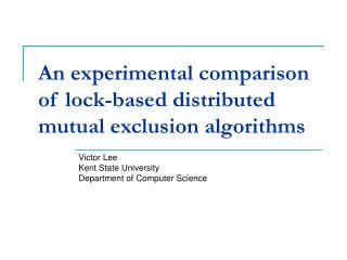 An experimental comparison of lock-based distributed mutual exclusion algorithms