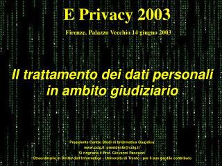 Il trattamento dei dati personali in ambito giudiziario