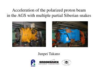 Acceleration of the polarized proton beam  in the AGS with multiple partial Siberian snakes