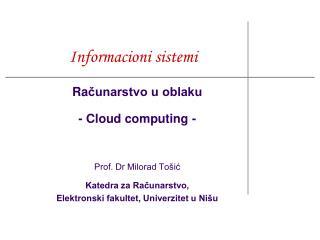 Informacioni sistemi