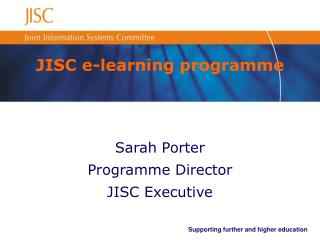 JISC e-learning programme