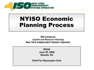 NYISO Economic Planning Process
