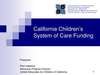 California Children�s System of Care Funding