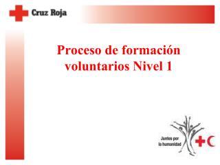 Proceso de formación voluntarios Nivel 1