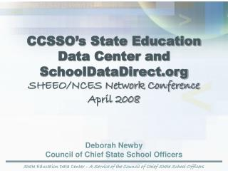 State Education Data Center -  A Service of the Council of Chief State School Officers