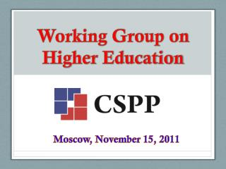 Working Group on Higher Education
