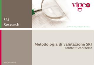 Metodologia di valutazione SRI Emittenti corporate