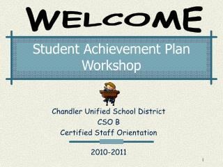 Student Achievement Plan Workshop