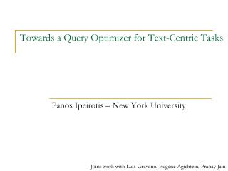 Towards a Query Optimizer for Text-Centric Tasks