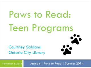 Animals | Paws to Read | Summer 2014