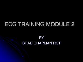 ECG TRAINING MODULE 2