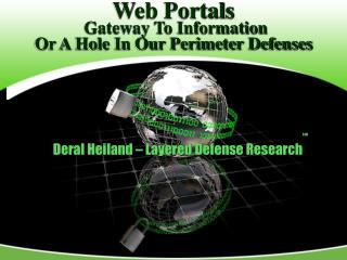 Web Portals Gateway To Information  Or A Hole In Our Perimeter Defenses
