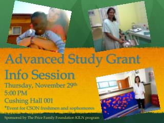 Advanced Study Grant Info Session