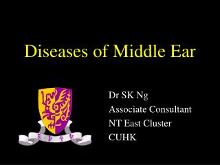Diseases of Middle Ear