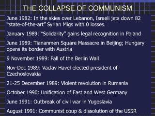 the fall of communism in poland essay Also known as: fall of communism, fall of stalinism, collapse of communism, collapse of socialism the last communist prime minister of poland.