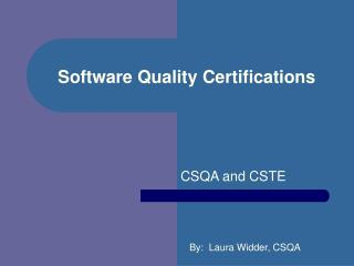 Software Quality Certifications