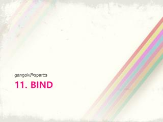11.  BIND