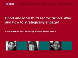 Sport and local third sector: Who's Who and how to strategically engage!